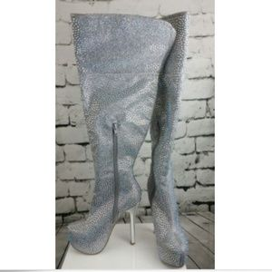 0ff159d42fb bella luna Shoes - Diamond Glitter Knee High Stiletto Boots Size 6